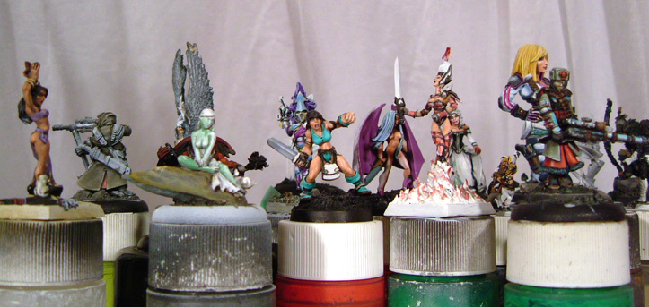 Ral Partha Falcon girl 2